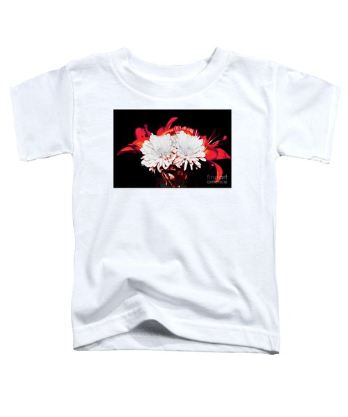 White Mums And Red Lilies Toddler T-Shirt