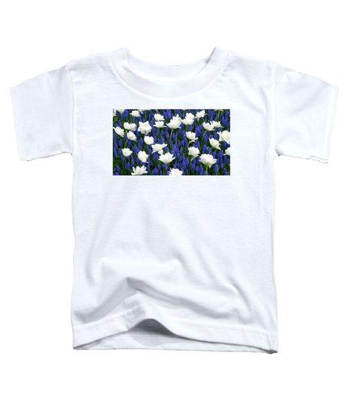 White On Blue Toddler T-Shirt