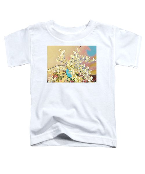 White Orchid Bouquet Pink/blue Toddler T-Shirt