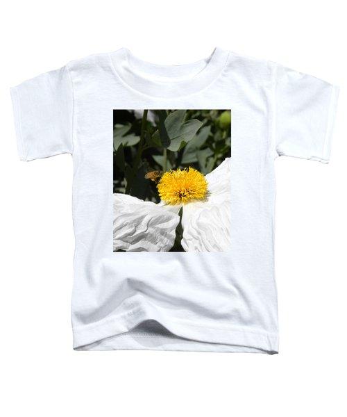 White Poppy Toddler T-Shirt