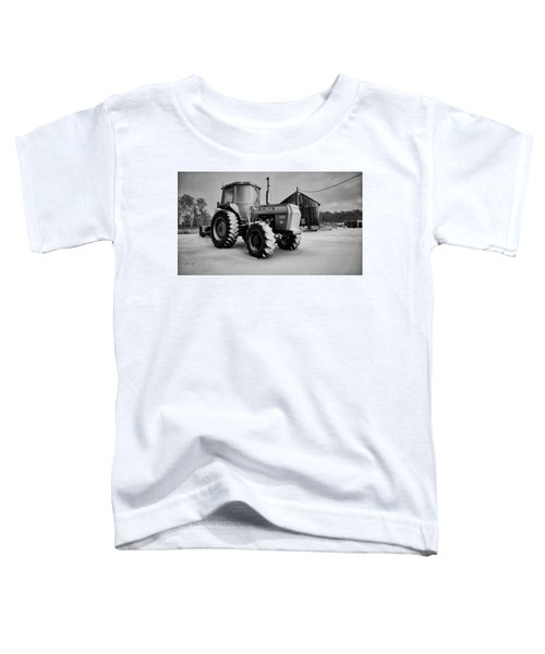 White Tractor Toddler T-Shirt