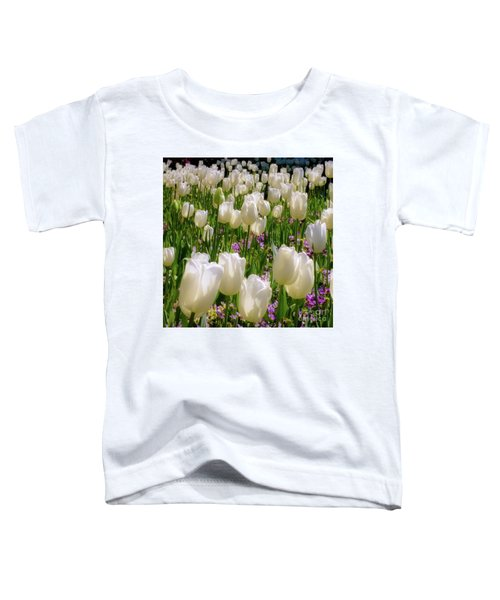 White Tulips In Bloom Toddler T-Shirt