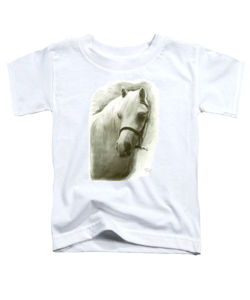 White Welsh Pony Toddler T-Shirt