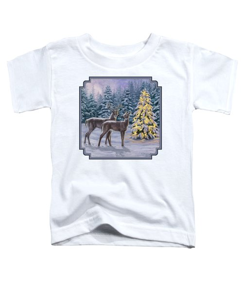 Whitetail Christmas Toddler T-Shirt