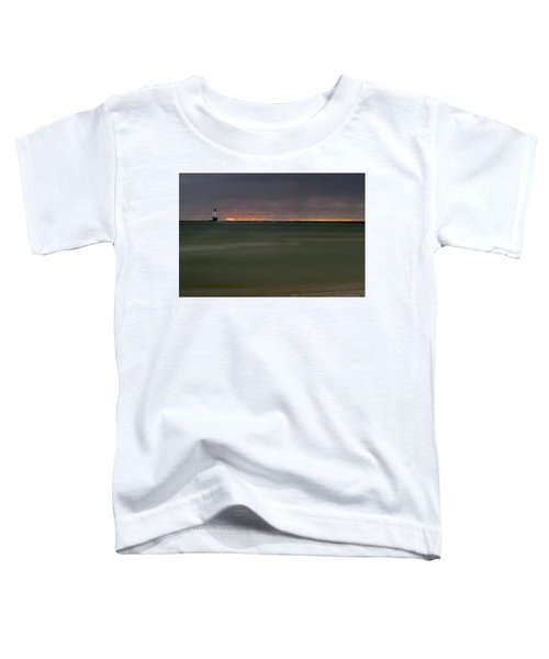 Wide View Of Lighthouse And Sunset Toddler T-Shirt