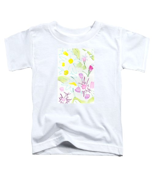 Wild Daisies Pattern Toddler T-Shirt