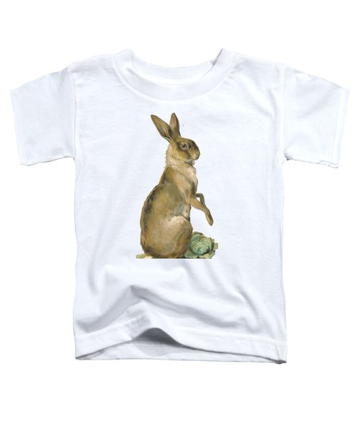 Toddler T-Shirt featuring the digital art Wild Hare by ReInVintaged