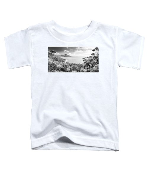 Wilsons Promontory Panorama Black And White Toddler T-Shirt