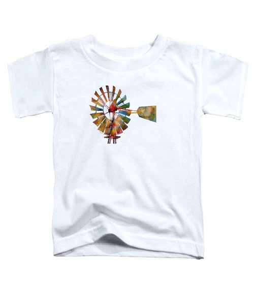 Windmill Toddler T-Shirt by Hailey E Herrera