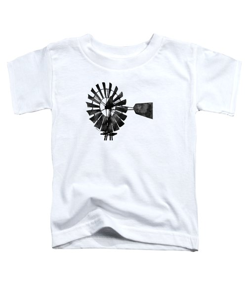 Windmill In Black And White Toddler T-Shirt by Hailey E Herrera