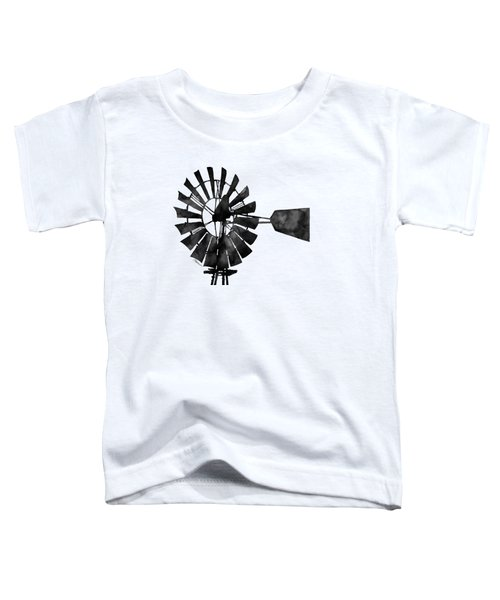 Windmill In Black And White Toddler T-Shirt