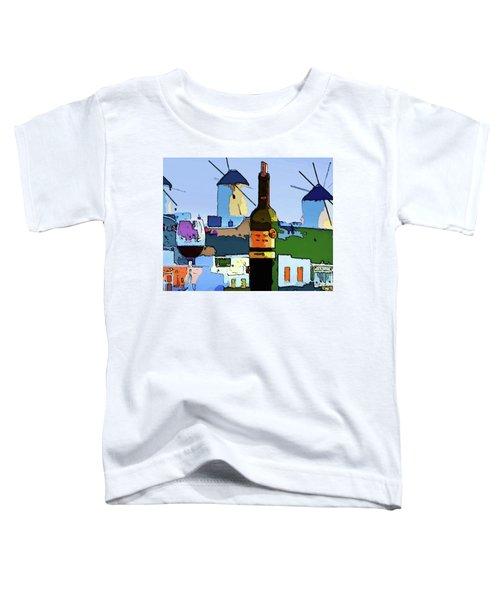 Wine In Mykonos Toddler T-Shirt