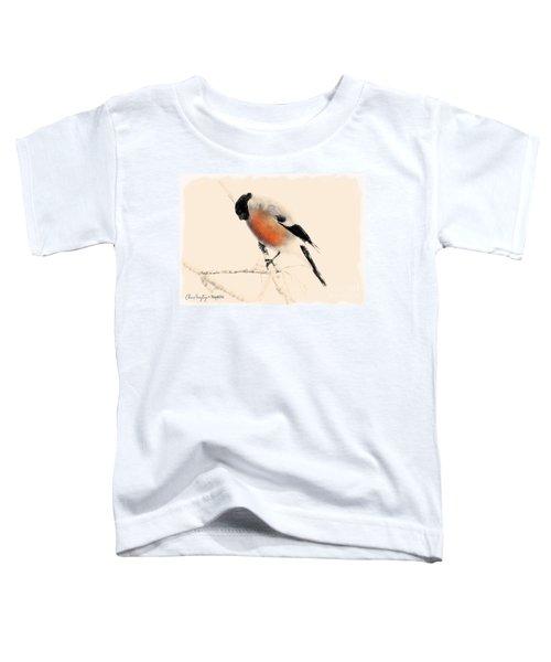 Winter Bullfinch Toddler T-Shirt
