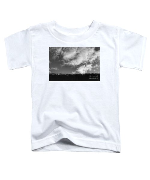 Winter Clouds Over The Delaware River Toddler T-Shirt