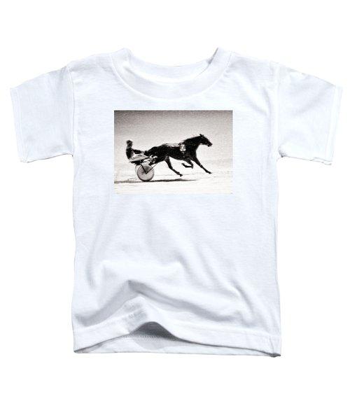 Winter Harness Racing Toddler T-Shirt