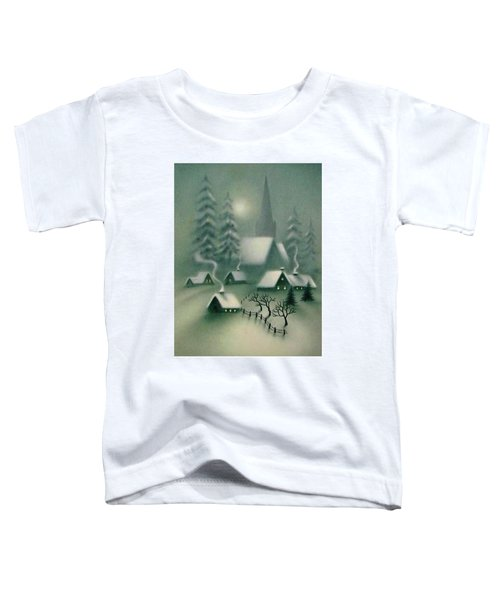 Winter In Snowy Village Toddler T-Shirt