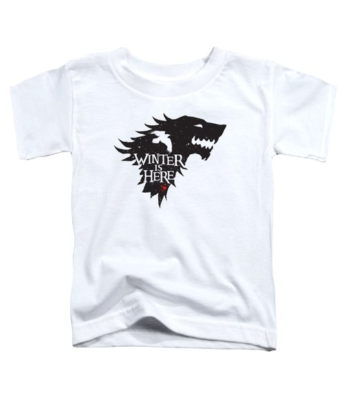Winter Is Here Toddler T-Shirt by Edward Draganski
