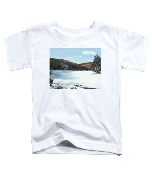 Winter On An Ontario Lake  Toddler T-Shirt