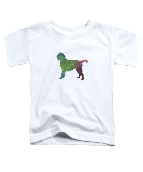 Wirehaired Pointing Griffon Korthals In Watercolor Toddler T-Shirt by Pablo Romero