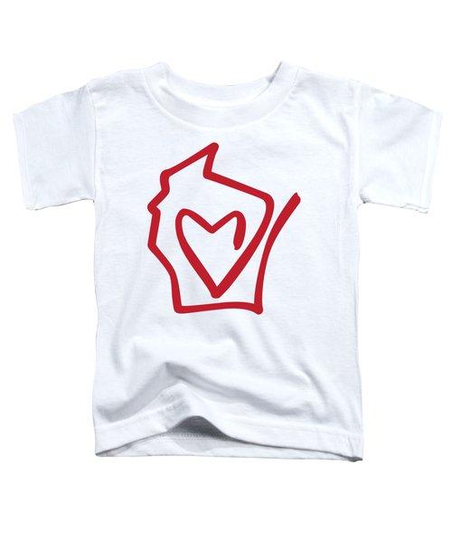 Wisconsin Love Toddler T-Shirt