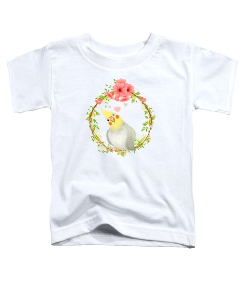With Love From The Sweetest Cockatiel Toddler T-Shirt