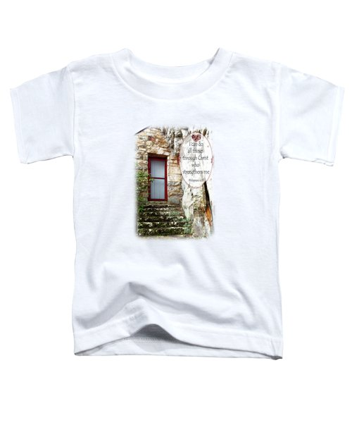 With Me - Verse And Heart Toddler T-Shirt