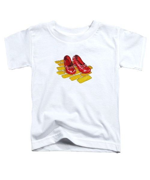 Wizard Of Oz Ruby Slippers Toddler T-Shirt
