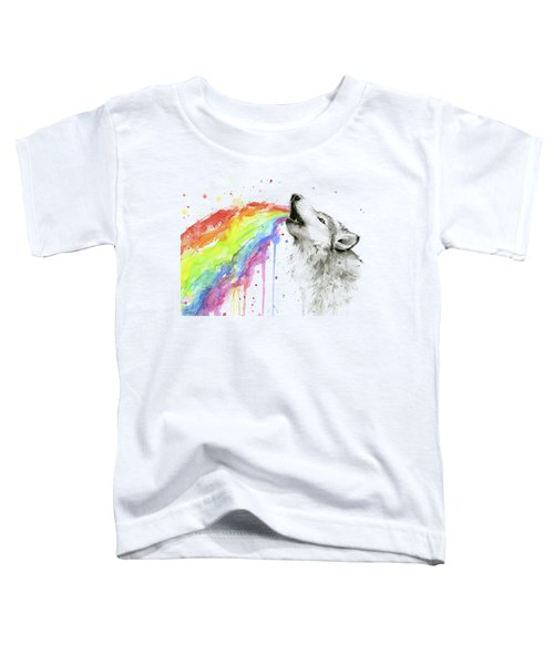 Wolf And Rainbow  Toddler T-Shirt