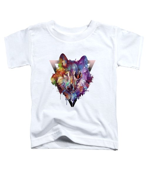 Wolf Colorful Toddler T-Shirt