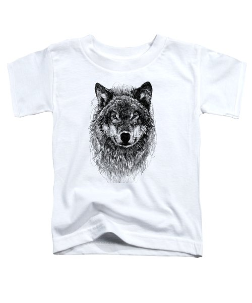 Wolf Toddler T-Shirt by Michael Volpicelli