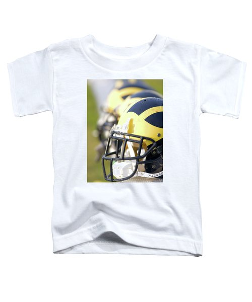 Wolverine Helmets On A Bench In The Morning Toddler T-Shirt