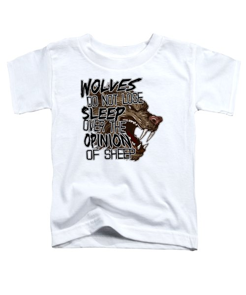 Wolves And Sheep Toddler T-Shirt by Michelle Murphy