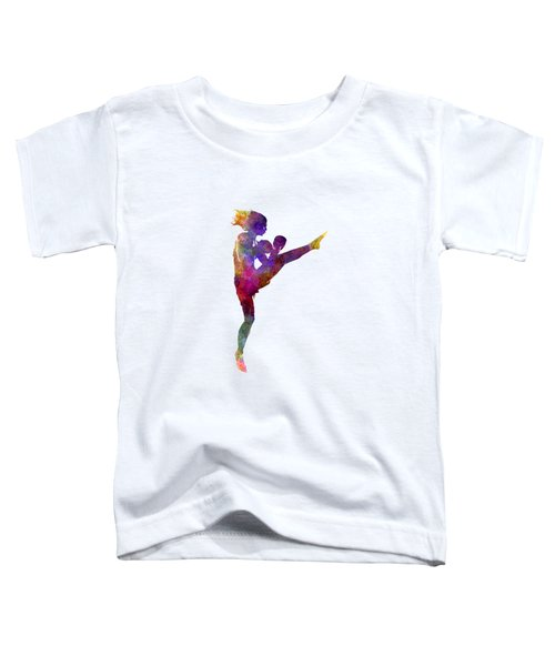 Woman Boxer Boxing Kickboxing Silhouette Isolated 01 Toddler T-Shirt