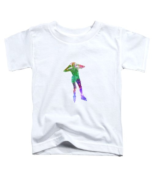 Woman In Roller Skates 04 In Watercolor Toddler T-Shirt