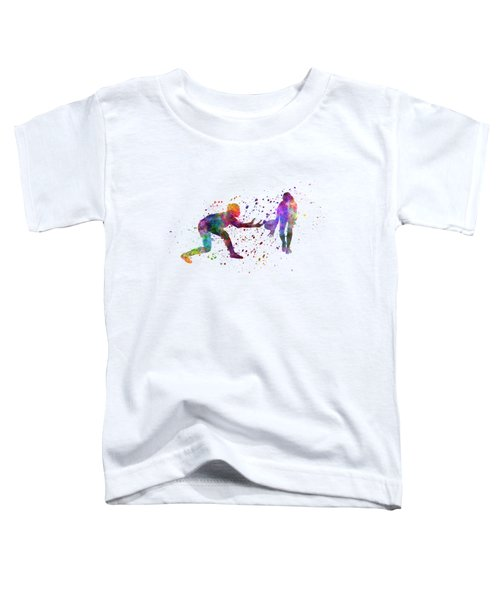Woman Rugby 01 In Watercolor Toddler T-Shirt