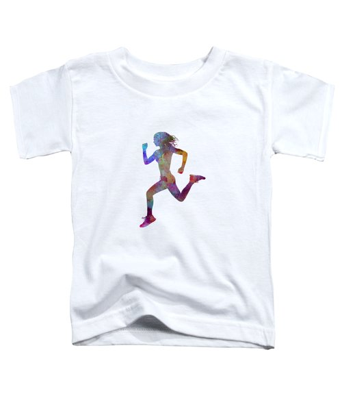 Woman Runner Running Jogger Jogging Silhouette 01 Toddler T-Shirt by Pablo Romero