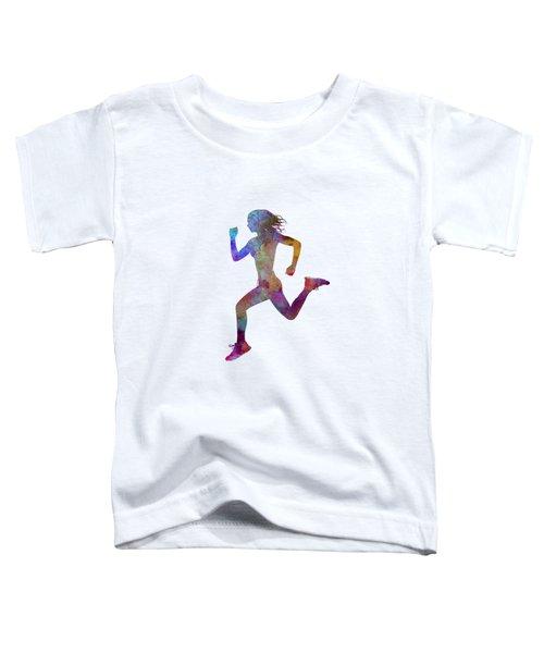 Woman Runner Running Jogger Jogging Silhouette 01 Toddler T-Shirt