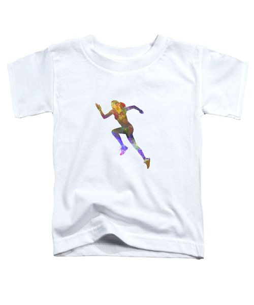 Woman Runner Running Jogger Jogging Silhouette 03 Toddler T-Shirt by Pablo Romero