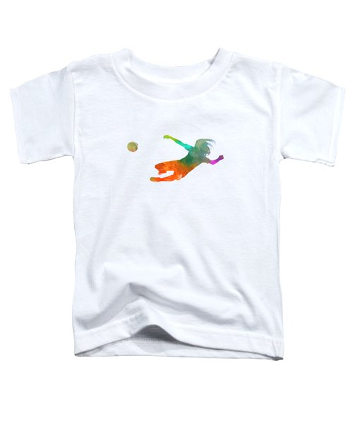 Woman Soccer 14 In Watercolor Toddler T-Shirt