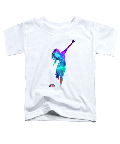 Woman Soccer Player 05 In Watercolor Toddler T-Shirt