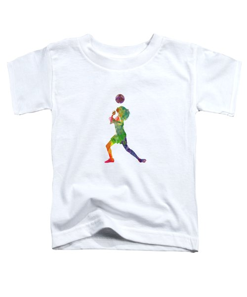 Woman Soccer Player 06 In Watercolor Toddler T-Shirt