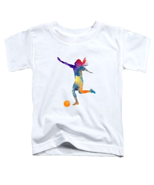 Woman Soccer Player 07 In Watercolor Toddler T-Shirt