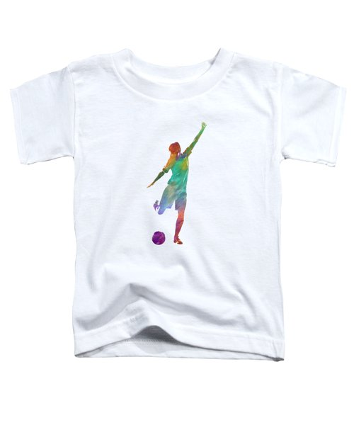 Woman Soccer Player 09 In Watercolor Toddler T-Shirt