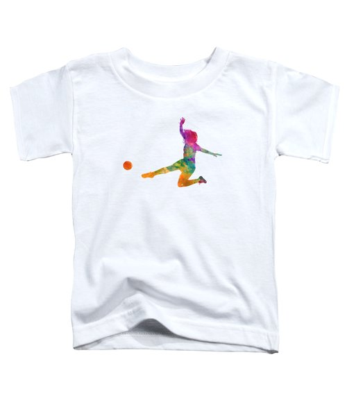 Woman Soccer Player 11 In Watercolor Toddler T-Shirt