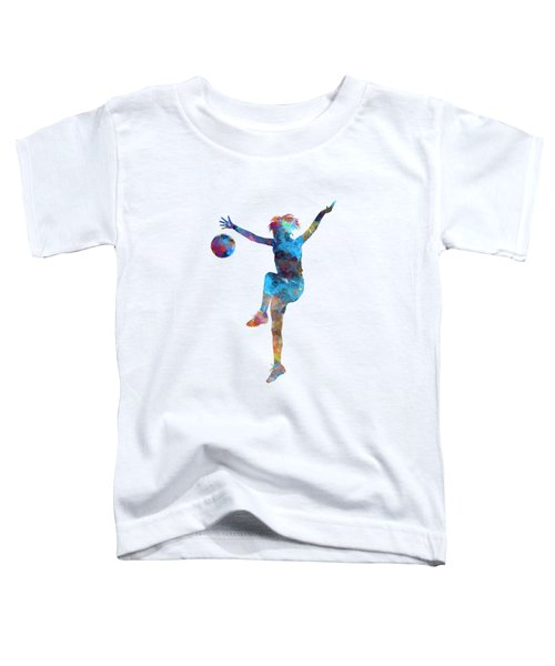 Woman Soccer Player 12 In Watercolor Toddler T-Shirt