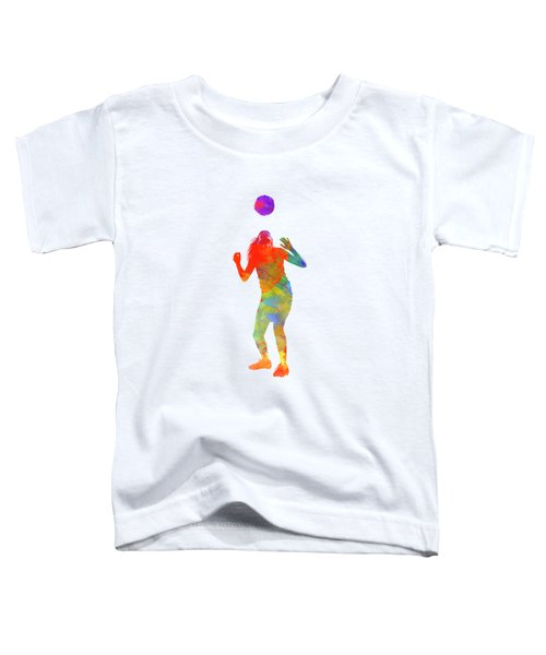 Woman Soccer Player 13 In Watercolor Toddler T-Shirt