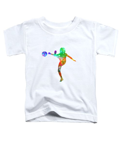 Woman Soccer Player 17 In Watercolor Toddler T-Shirt