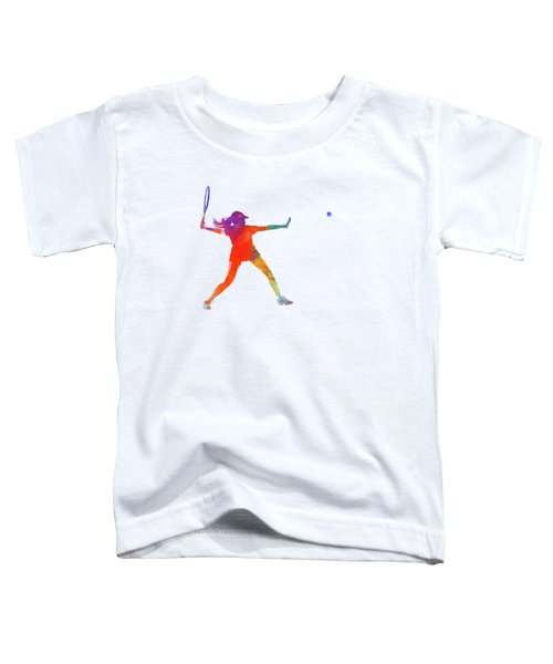 Woman Tennis Player 01 In Watercolor Toddler T-Shirt by Pablo Romero