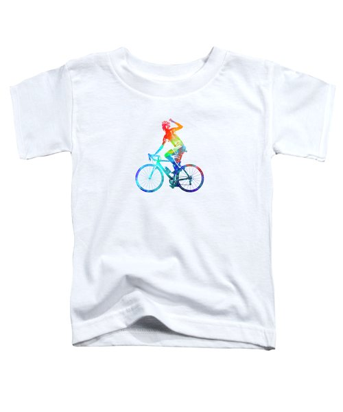 Woman Triathlon Cycling 03 Toddler T-Shirt