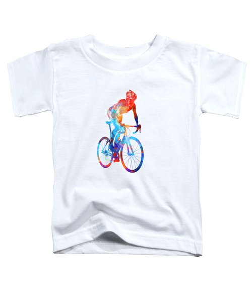 Woman Triathlon Cycling 06 Toddler T-Shirt by Pablo Romero